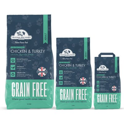NDFC adult chicken&turkey grain free 2 kg, 6kg, 12kg