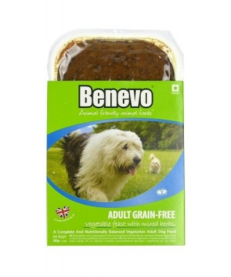 Krmivo pre psov, Benevo Adult Grain-Free Vegetable Feast With Mixed Herbs, 395g